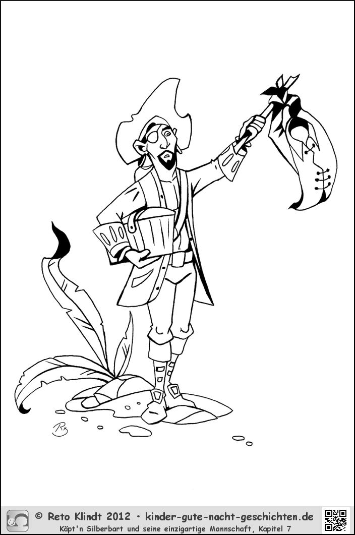 Piraten Ausmalbilder Von Käpt N Silberbart Kigunage