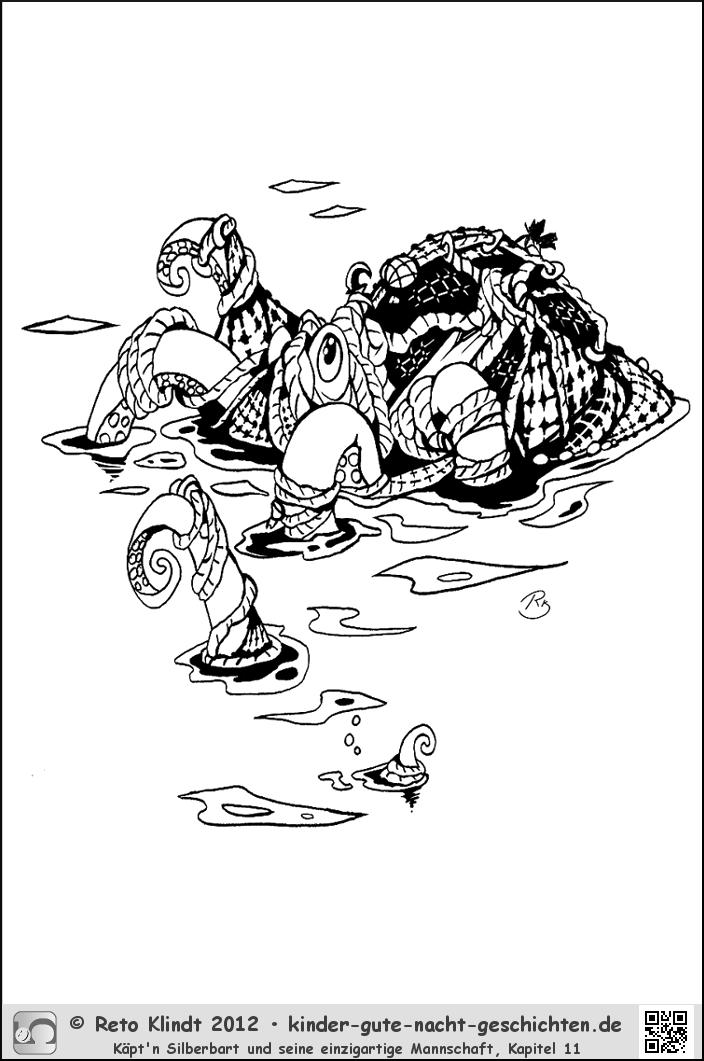 piratenausmalbilder von käpt'n silberbart  kigunage